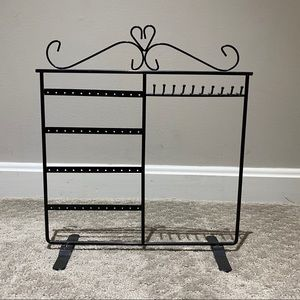 Glossy Black Metal Jewelry Display Stand